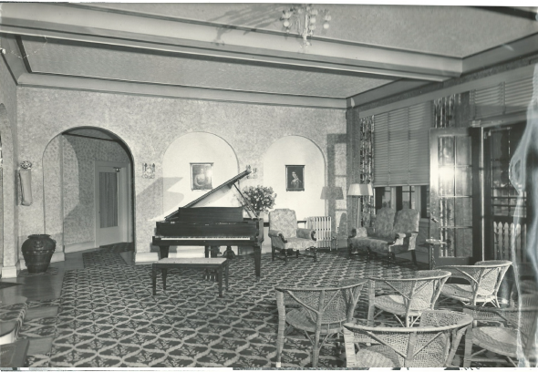 Lobby of the Biscayne Methodist Home